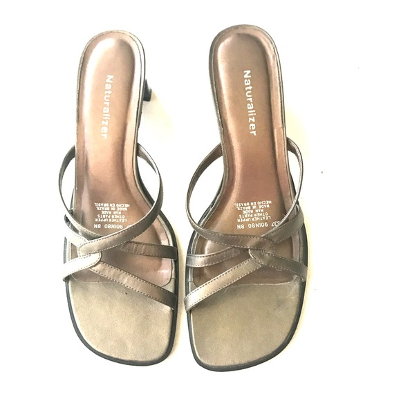 Naturalizer Shoes - Naturalizer Bronze Leather Sandals Size 8N EUC